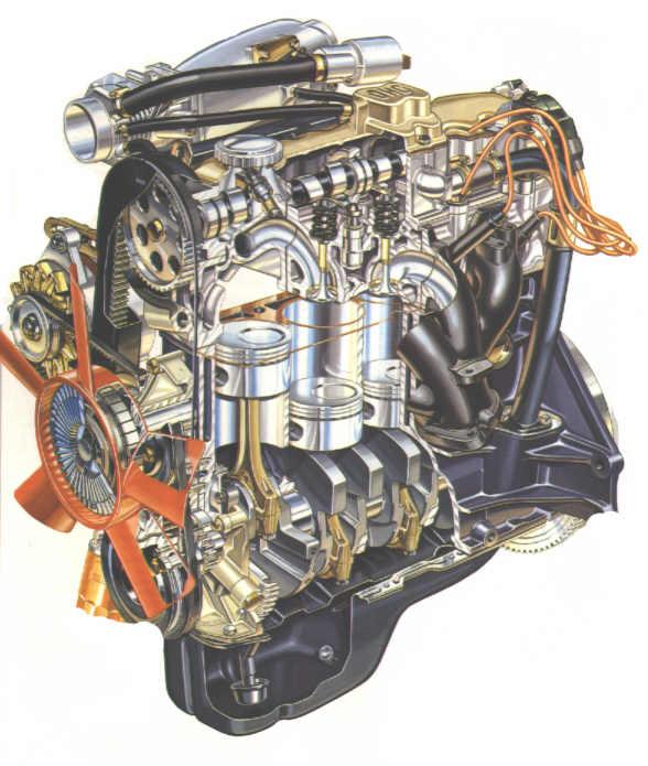 опель омега а двигатель схема